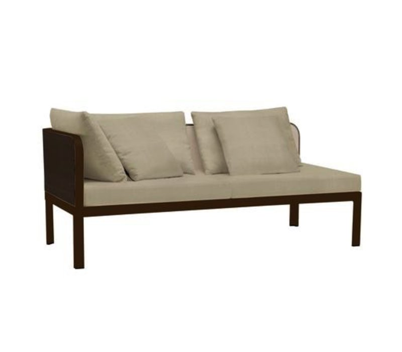 CONNEXION LEFT ARM CHAISE WITH CUSHIONS / 3 RECT. PILLOWS / 2 SQ. PILLOWS