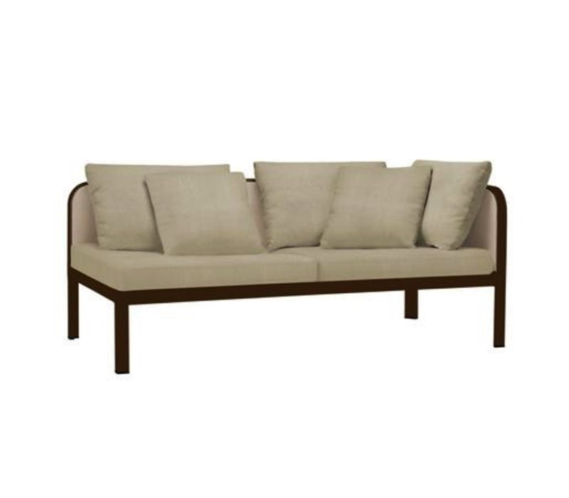 CONNEXION RIGHT ARM CHAISE WITH CUSHIONS / 3 RECT. PILLOWS / 2 SQ. PILLOWS