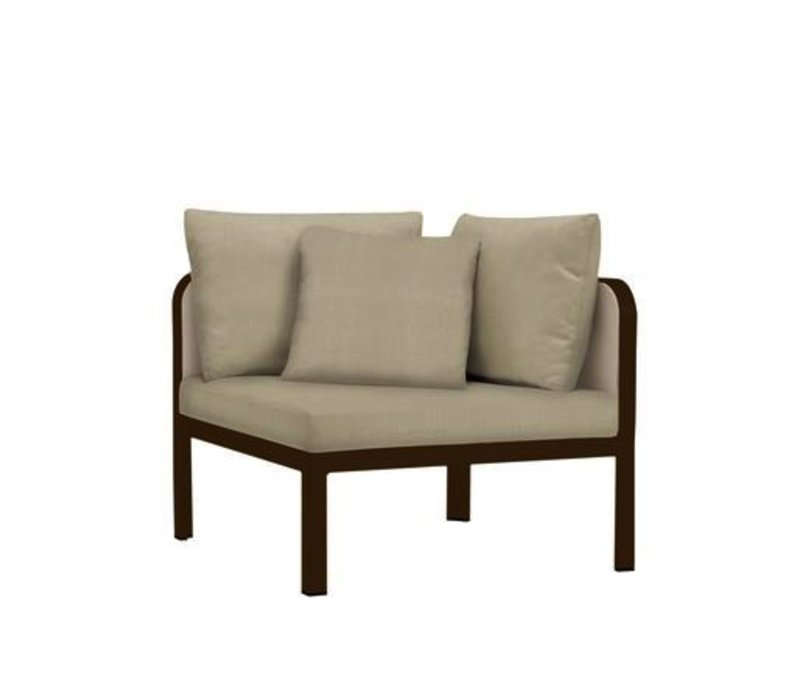 CONNEXION CORNER SECTIONAL WITH GRADE A FABRIC / 2 RECT. PILLOW / 1 SQ. PILLOW