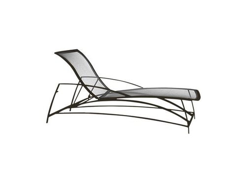 BROWN JORDAN WAVE ADJUSTABLE CHAISE WITH PARABOLIC SLING