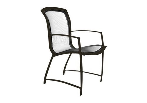 BROWN JORDAN WAVE DINING ARM CHAIR WITH PARABOLIC SLING