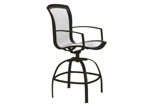 BROWN JORDAN WAVE SWIVEL BAR CHAIR W/ARMS