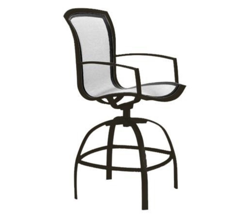 WAVE SWIVEL BAR CHAIR W/ARMS