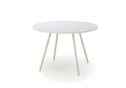"CANE-LINE AREA 43"" ALUMINUM DINING TABLE"