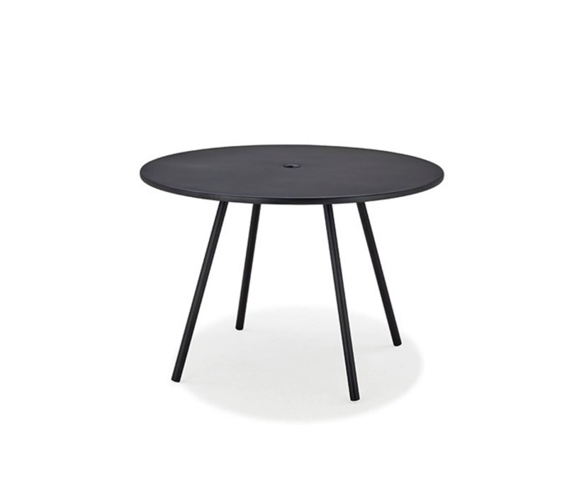 AREA 43 INCH ROUND ALUMINUM DINING TABLE IN LAVA GREY