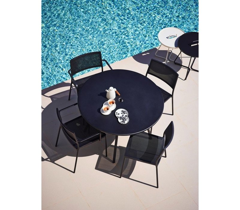"AREA 43""  ALUMINUM DINING TABLE IN LAVA GREY"