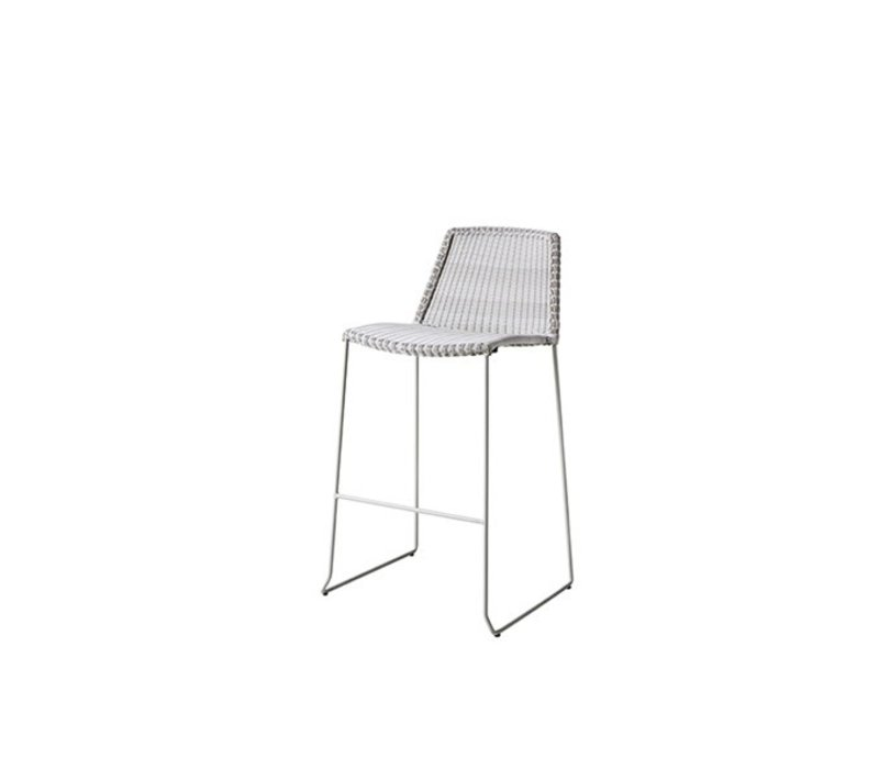 BREEZE BAR CHAIR WHITE, CANE-LINE FIBRE