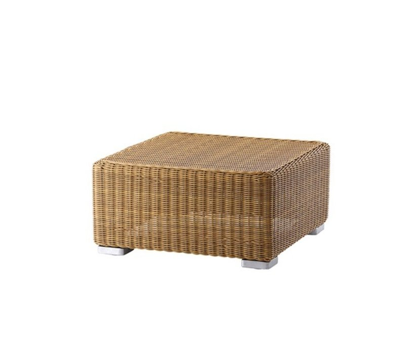 CHESTER FOOTSTOOL NATURAL, CANE-LINE FIBRE