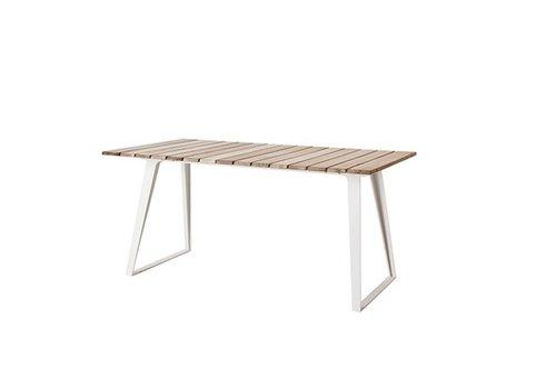 CANE-LINE COPENHAGEN TEAK EXTENSION TABLE / 63W x 33D x 29H with extensions