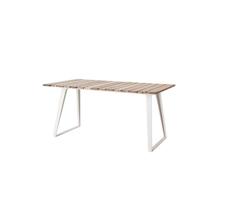 COPENHAGEN TEAK EXTENSION TABLE / 63W x 33D x 29H with extensions
