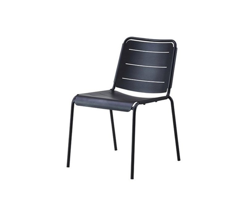 COPENHAGEN ALUMINUM SIDE CHAIR IN LAVA GREY / SOLD IN SETS OF 2 ONLY