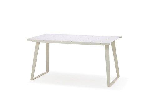 CANE-LINE COPENHAGEN ALUMINUM DINING TABLE IN WHITE