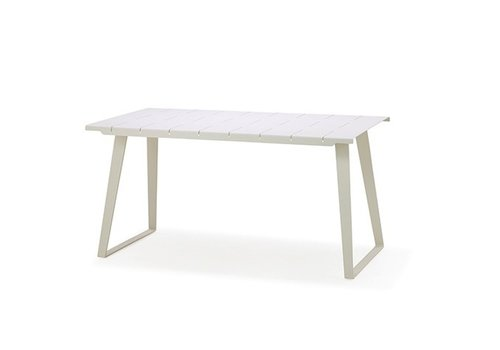 CANE-LINE COPENHAGEN TABLE WHITE, ALUMINUM