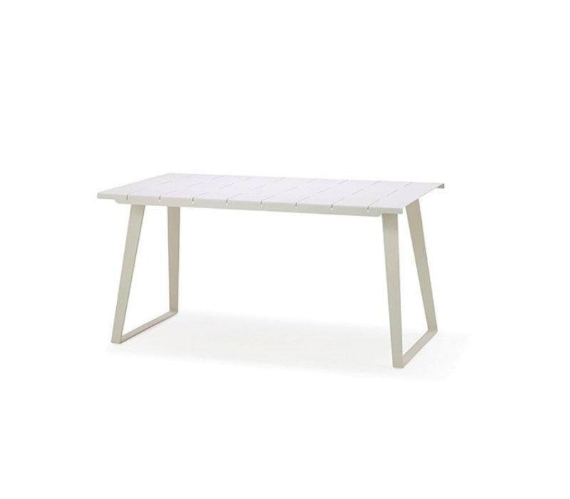 COPENHAGEN ALUMINUM DINING TABLE IN WHITE