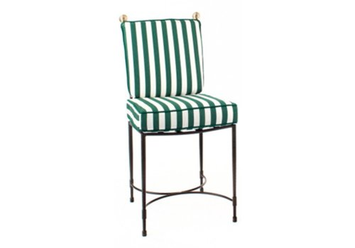 AMALFI LIVING HOST SIDE CHAIR LARGE/STAINLESS STEEL FRAME