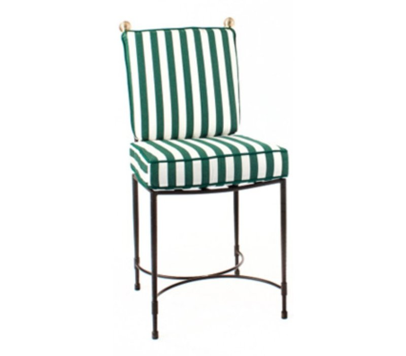 HOST SIDE CHAIR LARGE/STAINLESS STEEL FRAME