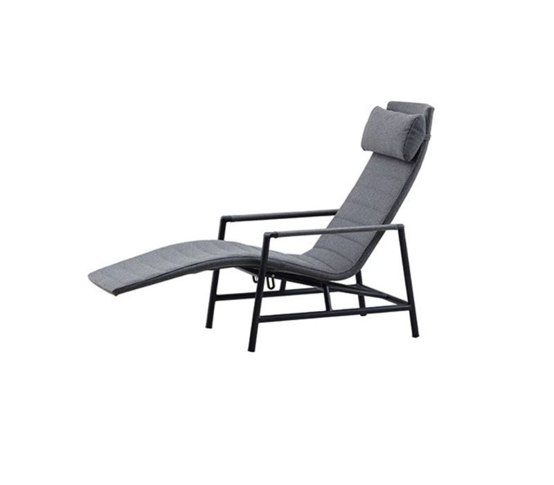 CORE SUN DECK CHAIR GREY, CANE-LINE SOFTTOUCH