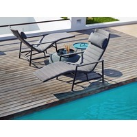 CORE SUN DECK CHAIR IN GREY CANE-LINE SOFTTOUCH