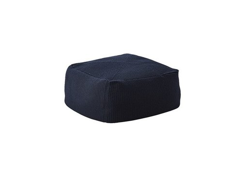 CANE-LINE DIVINE FOOTSTOOL IN MIDNIGHT BLUE