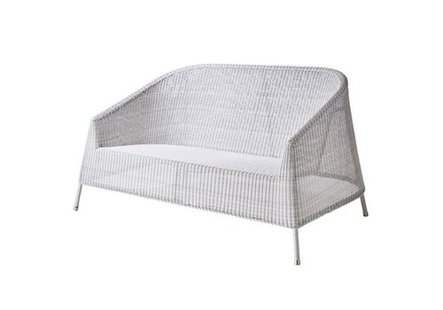 CANE-LINE KINGSTON 2 SEATER LOUNGE SOFA IN WHITE-GREY, CANE-LINE FIBRE