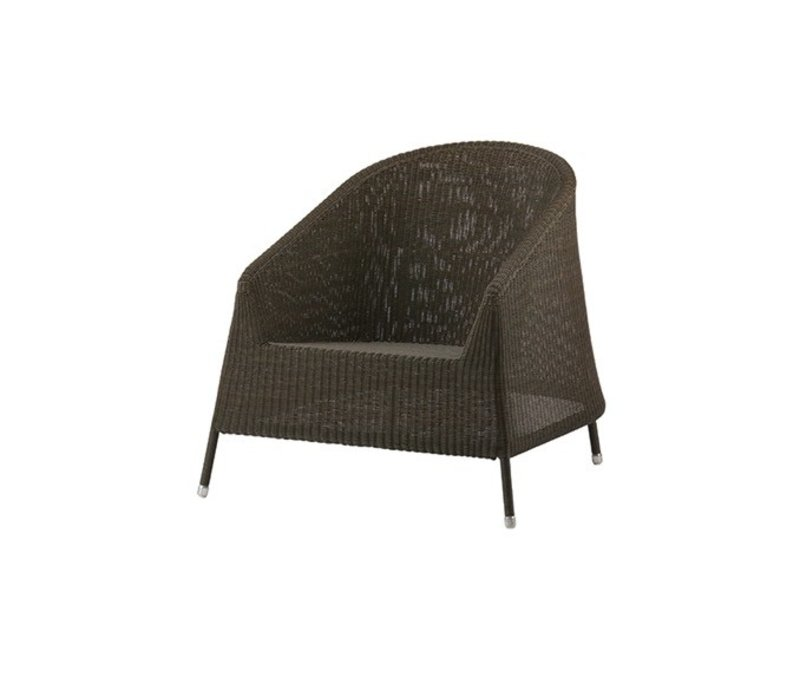 KINGSTON LOUNGE CHAIR MOCCA, CANE-LINE FIBRE