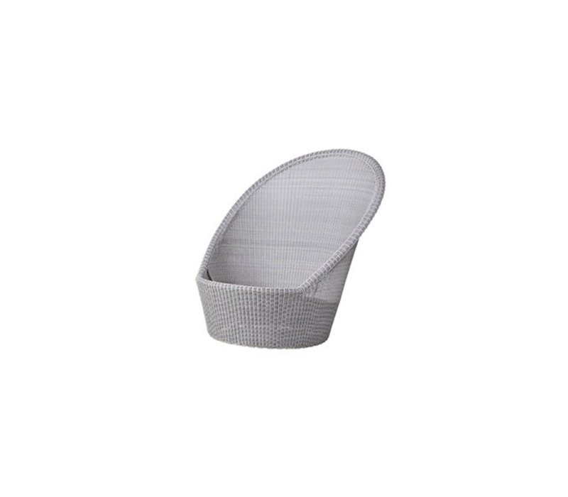 KINGSTON SUNCHAIR WITH WHEELS IN WHITE GREY CANE-LINE FIBRE