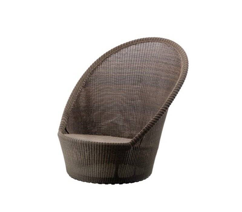 KINGSTON SUNCHAIR W/WHEELS MOCCA, CANE-LINE FIBRE