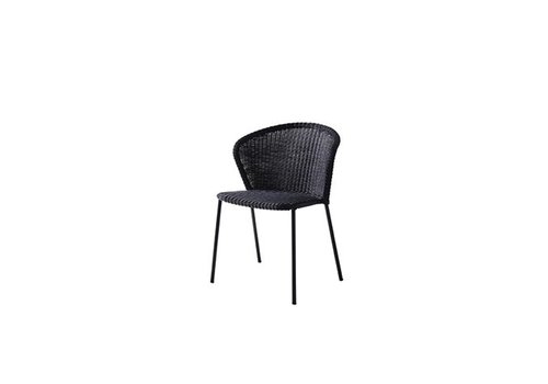 CANE-LINE LEAN DINING CHAIR IN BLACK CANE-LINE WEAVE
