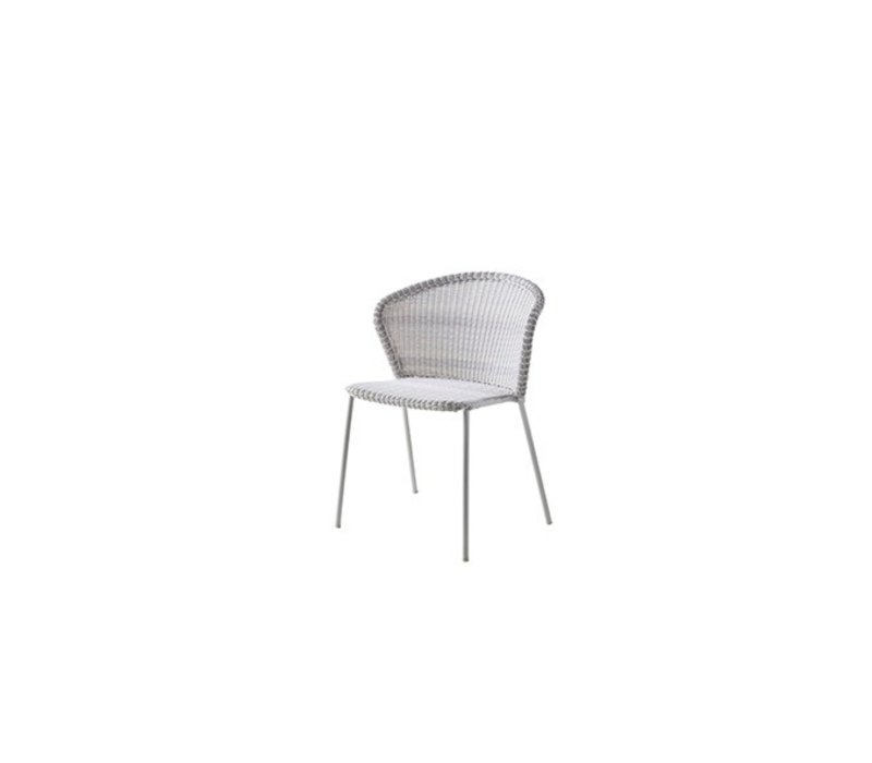 LEAN DINING CHAIR, BLACK CANE-LINE WEAVE
