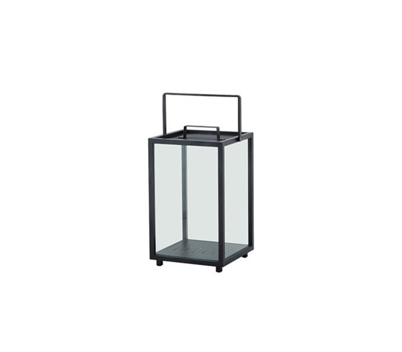 LIGHTHOUSE LANTERN, LARGE IN LAVA GREY, ALUMINUM / SOLD IN SETS OF 2