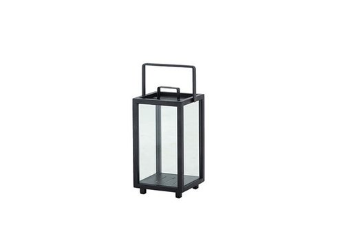 CANE-LINE LIGHTHOUSE LANTERN, SMALL LAVA GREY, ALUMINUM