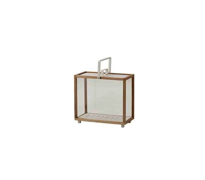 LIGHTHOUSE LANTERN, TEAK RECTANGULAR