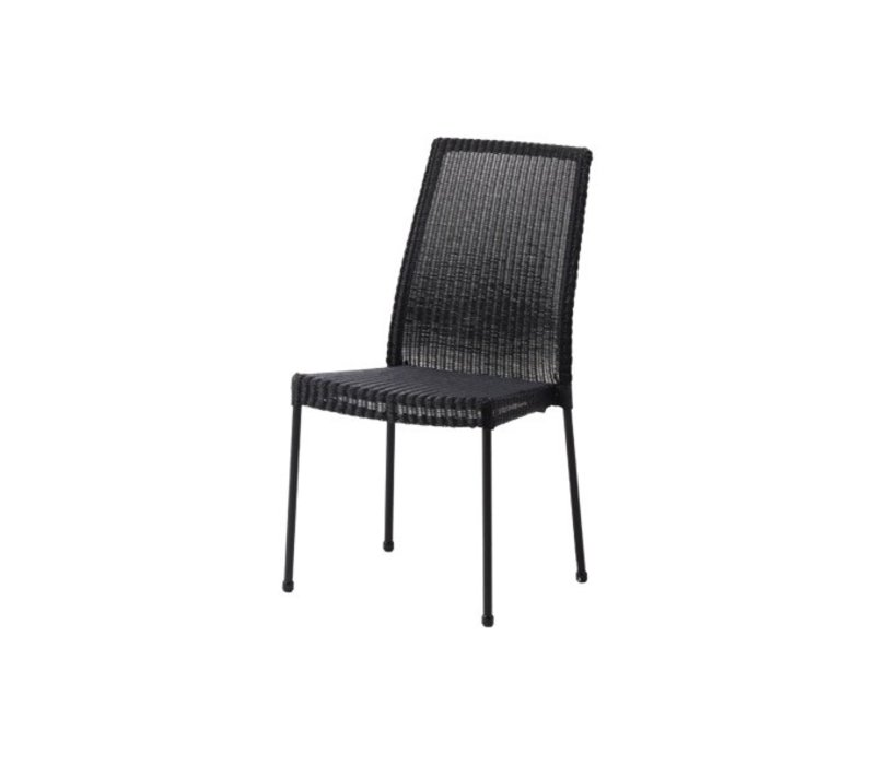 NEWPORT CHAIR BLACK, CANE-LINE FIBRE