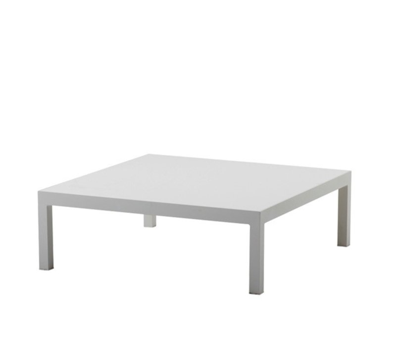 PENTHOUSE COFFEE TABLE, ALUMINUM BASE w/ CERAMIC TOP