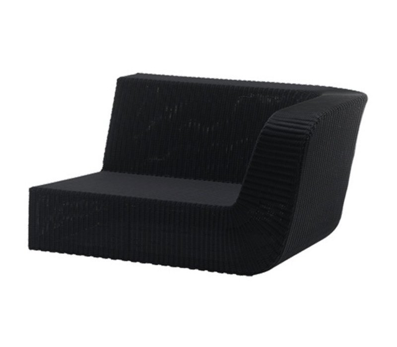 SAVANNAH 2 SEATER SOFA MODULE, LEFT BLACK, CANE-LINE FIBRE
