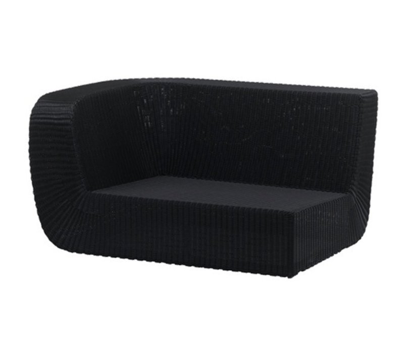 SAVANNAH 2-SEATER SOFA RIGHT MODULE IN BLACK, CANE-LINE FIBRE