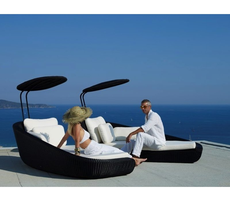 SAVANNAH DAYBED MODULE, RIGHT BLACK, CANE-LINE FIBRE