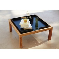 SQUARE COFFEE TABLE/FOOTSTOOL TEAK
