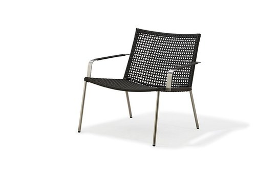 CANE-LINE STRAW LOUNGE ARMCHAIR ANTHRACITE, CANE-LINE ROPE