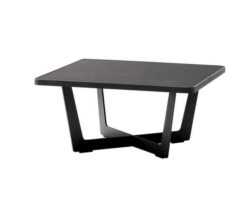 TIME OUT LARGE COFFEE TABLE IN LAVA GREY, ALUMINUM