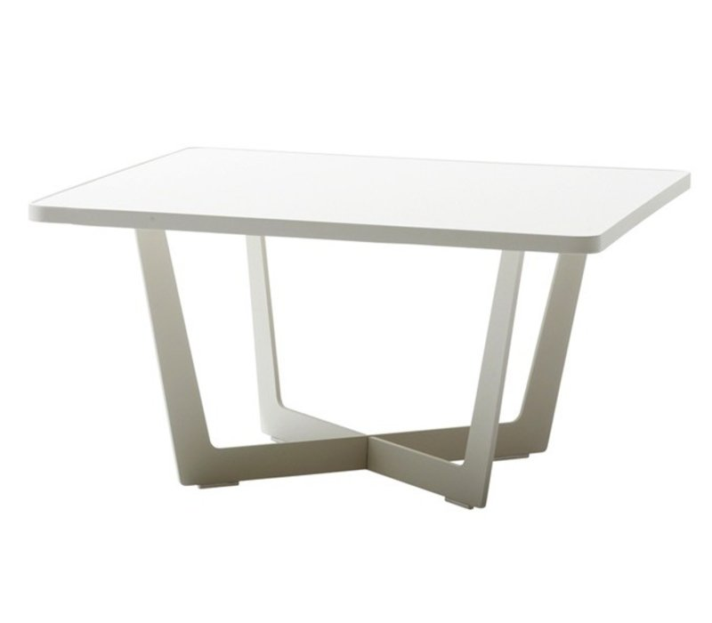 TIME OUT COFFEE TABLE, LARGE LAVA GREY, ALUMINUM