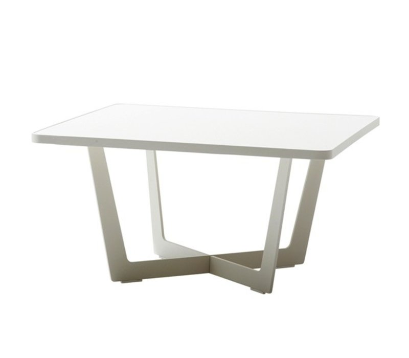 Time Out Small Coffee Table In White Aluminum