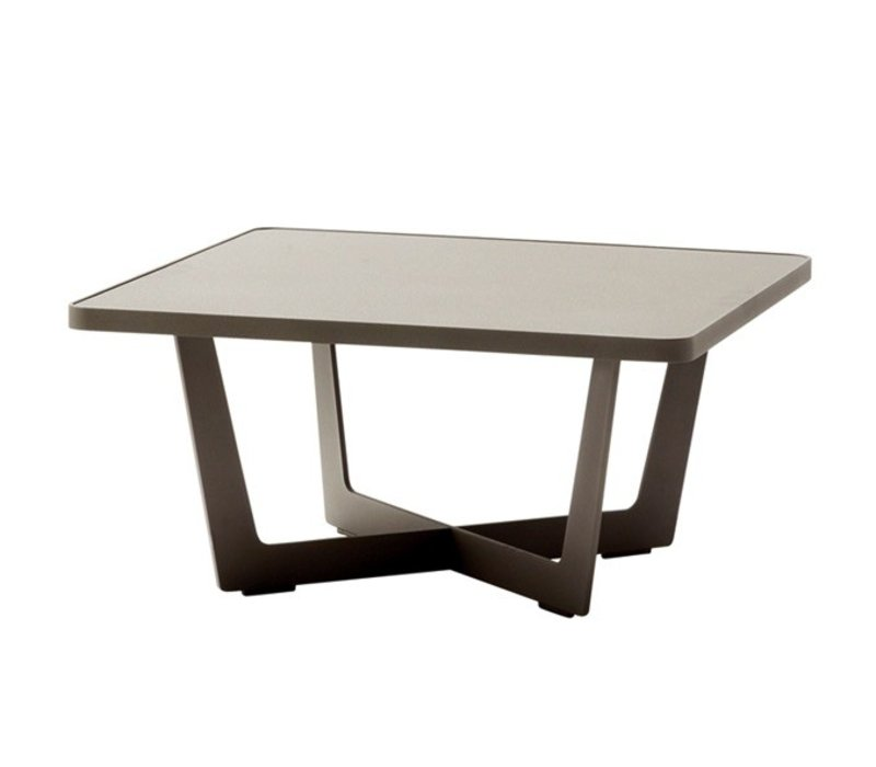 TIME OUT 28x28 SMALL COFFEE TABLE IN WHITE, ALUMINUM