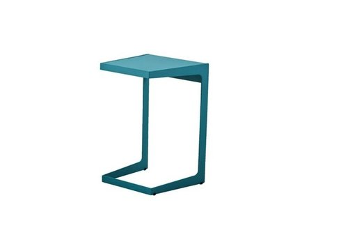 CANE-LINE TIME OUT SIDE TABLE AQUA, ALUMINUM