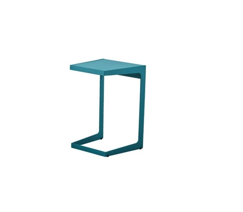 TIME OUT SIDE TABLE AQUA, ALUMINUM