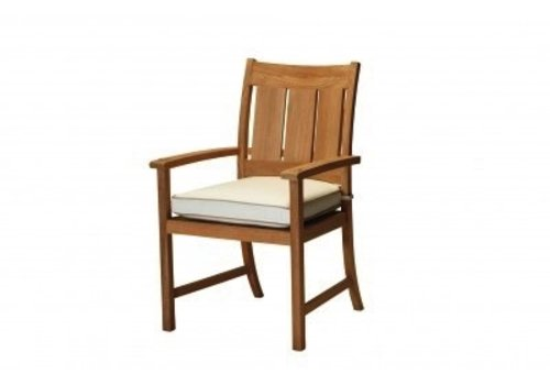 SUMMER CLASSICS CROQUET TEAK ARM CHAIR  NATURAL