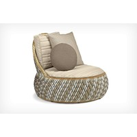 DALA LOUNGE CHAIR IN COLOR STONE WITH BACK AND SEAT CUSHIONS