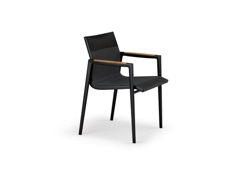 DEDON DEAN ARMCHAIR - ANTHRACITE AND BLACK