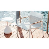 DEAN LOUNGE CHAIR - PEARL GREY AND WHITE
