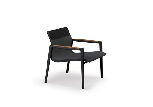 DEDON DEAN LOUNGE CHAIR - ANTHRACITE AND BLACK